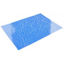 Litery samoprzylepne 50mm niebieskie