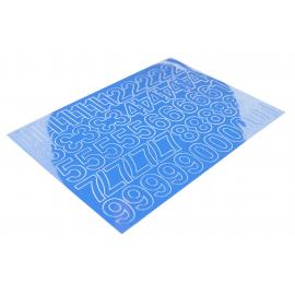 Cyfry samoprzylepne 50mm niebieskie