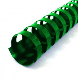 Grzbiety do bindowania 6mm 100szt zielone