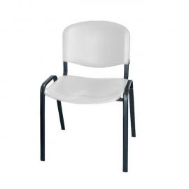 Krzesło konferencyjne ISO plastikowe szare