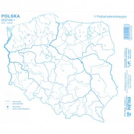 Mapy konturowe Polski zestaw I