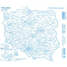 Mapy konturowe Polski zestaw II
