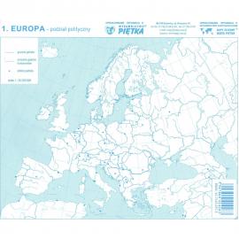 Mapy konturowe Europy zestaw
