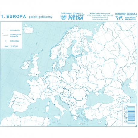 Mapy Konturowe Europy Zestaw Skład Biurowy