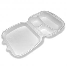 Menu BOX trójdzielny biały 100szt