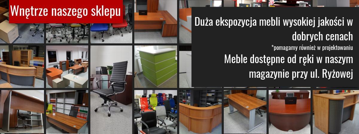 Ekspozycja mebli biurowych